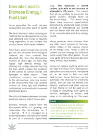 Energy from Cannabis